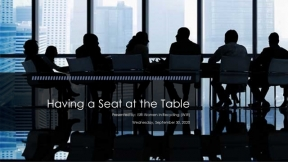 ISRI Virtual Event: Having a Seat at the Table