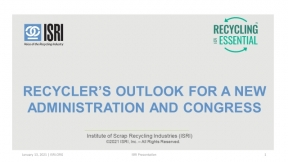 ISRI Webinar: Recyclers' Outlook for a New Administration and Congress