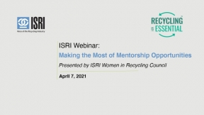ISRI Webinar: Making the Most of Mentorship Opportunities