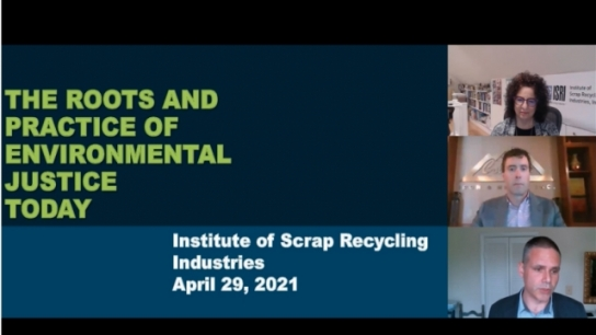 ISRI2021:  Environmental Justice - What Is It and Why Is It Important
