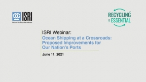 Ocean Shipping at a Crossroads: Proposed Improvements for Our Nation's Ports