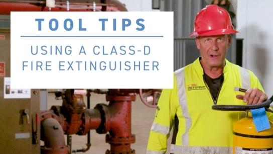 ISRI Tool Tip - Using a Class-D Fire Extinguisher