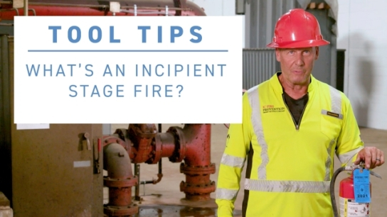 ISRI Tool Tip - What's an Incipient Stage Fire?